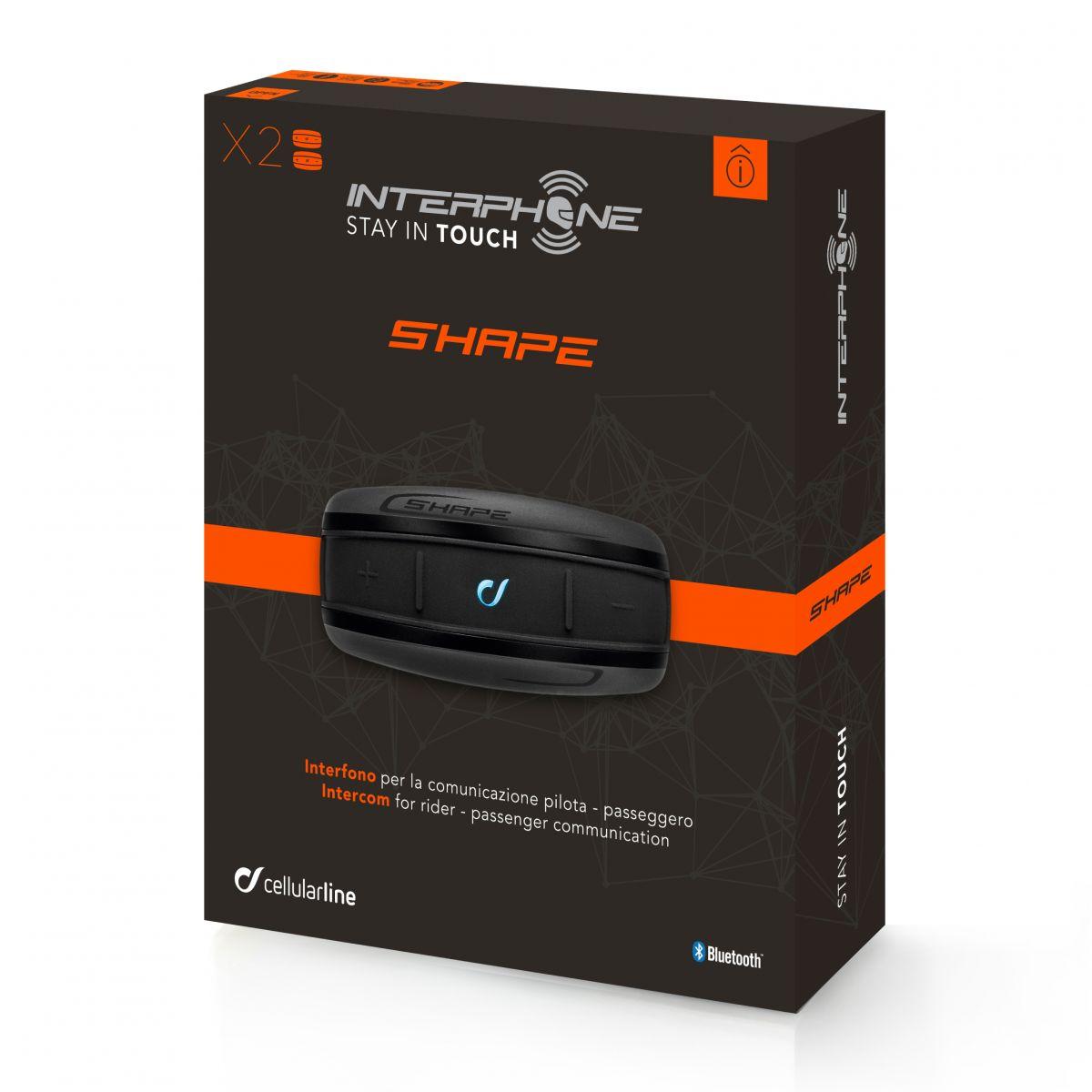 Interphone Shape Bluetooth Kulaklık (Sürücü-Yolcu)