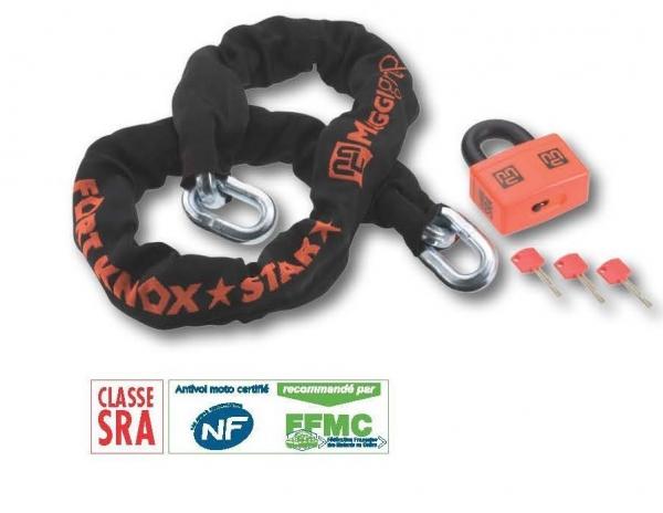 Maggi Fortknox 150Cm/16Mm Zincir+Squarelock 38Mm/18Mm Kilit (FKS150SQU00)